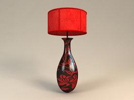 Black Vase Table Lamp 3d model preview