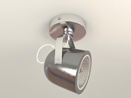 Single Ceiling Mounted Spotlight 3d preview