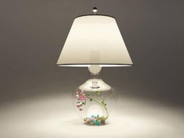 Clear Glass Table Lamp 3d model preview