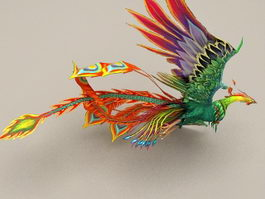 Flying Phoenix Rigged & Animated 3d preview