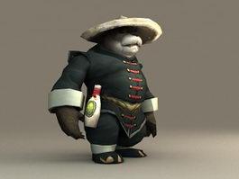 Pandaren Brewmaster 3d model preview