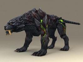 Fantasy Black Tiger 3d model preview