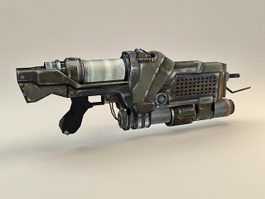 Sci-Fi Plasma Gun 3d model preview