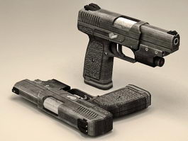 Military Police Pistol 3d preview
