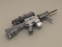 M4A1 Modular Weapon System 3d model preview