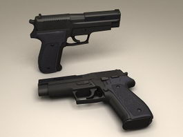 SIG Sauer P220 Pistol 3d model preview