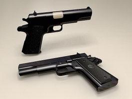 Colt M1911A1 Pistol 3d model preview