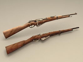 French Berthier Rifle 3d preview
