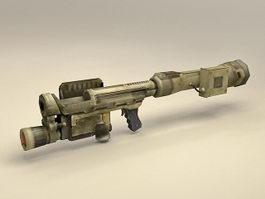 Future RPG rocket-propelled grenade 3d model preview