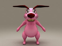 Courage the Cowardly Dog Rigged 3d preview
