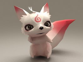 Anime Fox Rigged & Animated 3d model preview