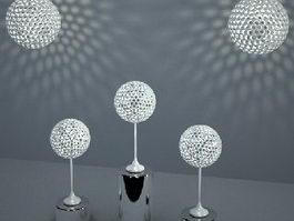 Modern Spherical Light Fixture Set 3d preview