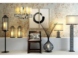 Chinese Style Lamps and Lanterns 3d preview
