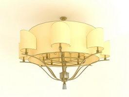 Semi Flush Mount Ceiling Light 3d preview
