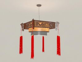Chinese Style Antique Lantern Pendant Light 3d preview