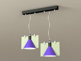 Modern Dining Room Pendant Light 3d preview