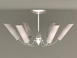 6 Light Semi Flush Ceiling Light 3d preview