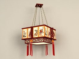 Antique Chinese Lantern Pendant 3d preview