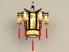 Chinese Antique Chandelier Light Fixtures 3d preview