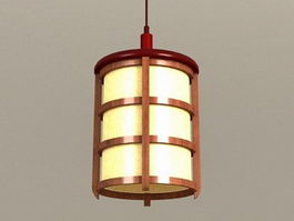 Wood Hanging Pendant Light 3d preview