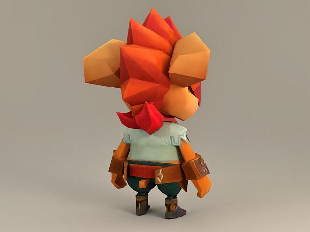 Anthropomorphic Squirrel 3d rendering