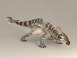 Herbivorous Dinosaur 3d model preview