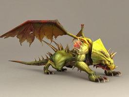 Green Dragon 3d model preview