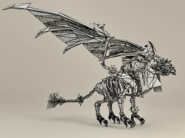 Undead Dragon 3d rendering