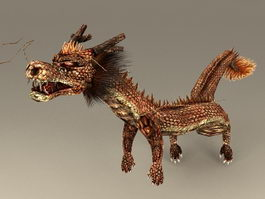 Chinese Dragon Rigged 3d preview
