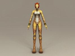 Leopard Woman 3d model preview