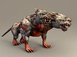 Zombie Hellhound 3d model preview