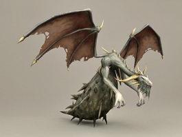 Huge Bug Dragon 3d model preview