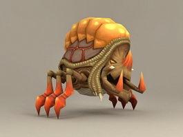 Shelled Bug Monster 3d model preview