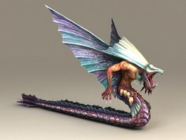 Feathered Serpent 3d model preview