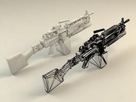 M249 Squad Automatic Weapon 3d preview