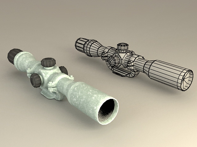 Rifle Scope 3d rendering
