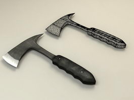 Throwing Axe 3d model preview