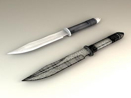 Combat Knife 3d model preview
