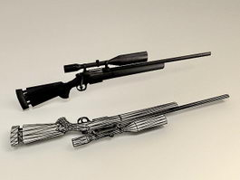 M25 Sniper Weapon System 3d preview
