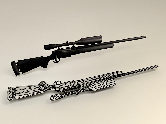 M25 Sniper Weapon System 3d rendering