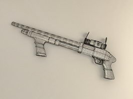 Shotgun with Scope 3d model preview