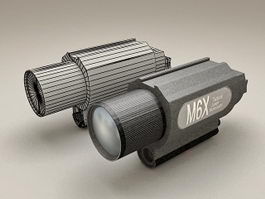 Tactical Laser Illuminator 3d preview