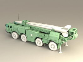 Scud Missile Launcher 3d preview