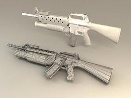Short Barrel Carbine 3d model preview