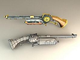Antique Flintlock Pistol 3d preview