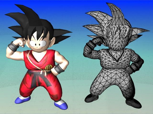Son Goku Dragon Ball Character 3d rendering