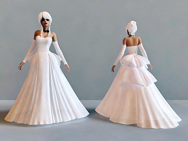 Snow Bride Princess 3d rendering