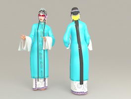 Female Role in Chinese Opera 3d preview