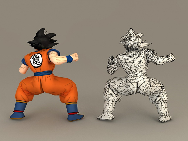 Dragon Ball Son Goku 3d rendering