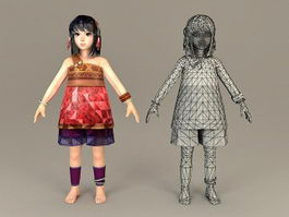 Ancient Chinese Teenage Girl 3d model preview
